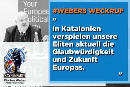 Wie Europa die katalanische Demokratiebewegung im Stich lässt (Webers Weckruf)